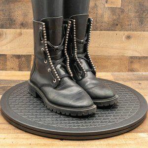 Zara Women's Western Boots Leather Walking Comfort Mid Calf Black Size 6